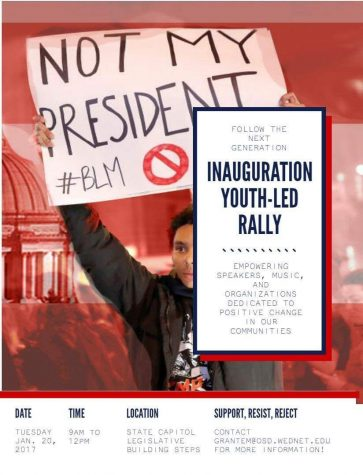 OHS Students Lead Rally on Inauguration Day
