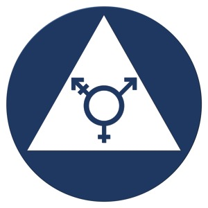 an example of a california transgender bathroom sign - Transgender Bathroom Sign