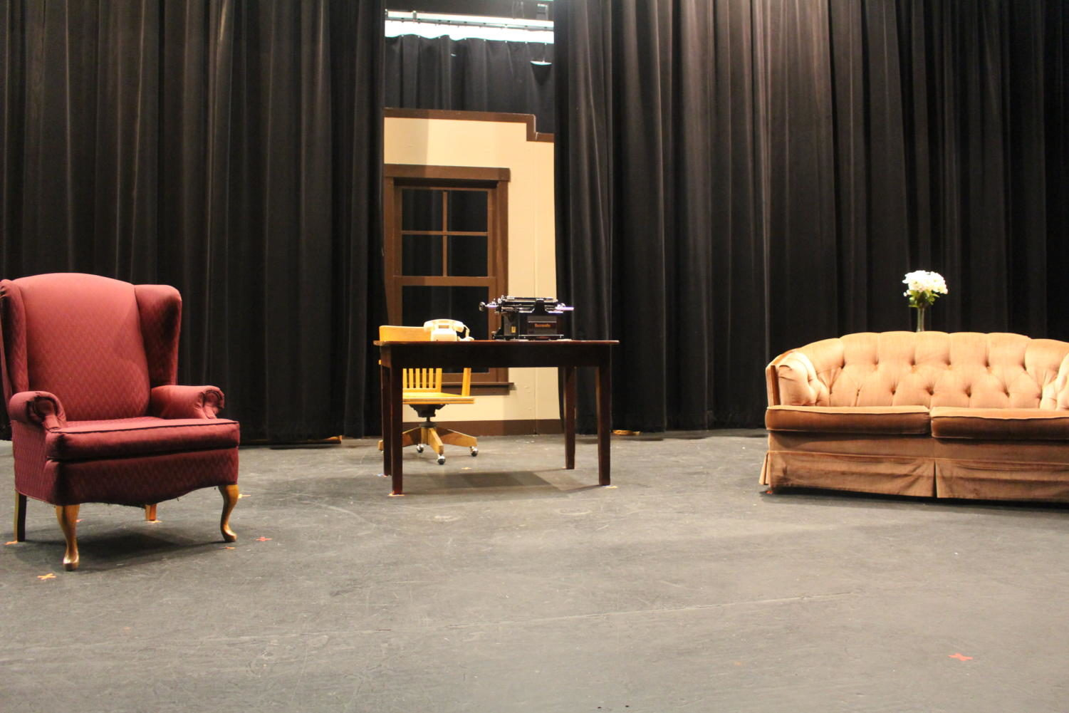 Stage for Rehearsal for Murder