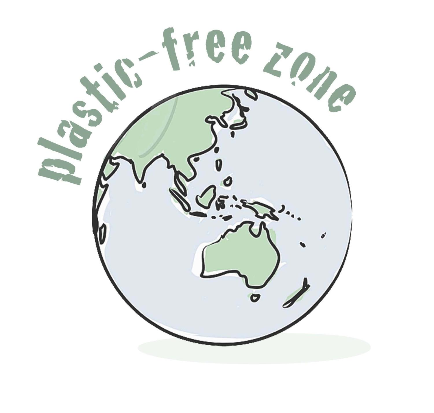 Drawing that promotes a plastic free zone.