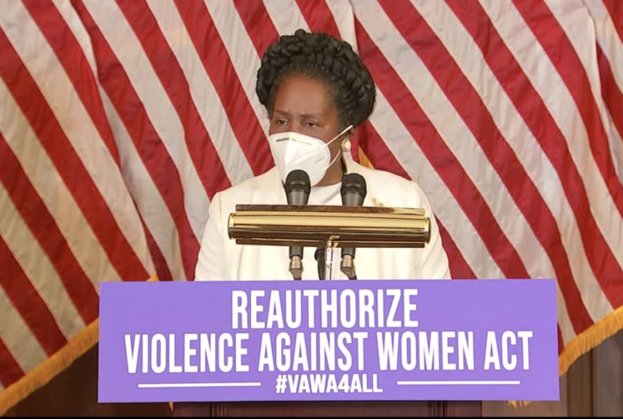 Rep. Shelia Jackson Lee at a press conference