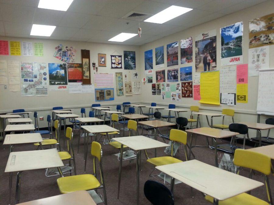 Empty+classroom+at+Capital+High+School.